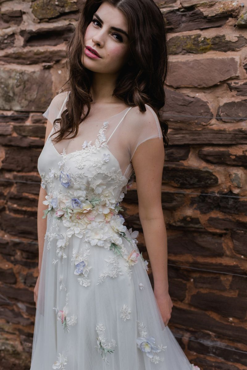 Floral wedding dresses beauteous bridal details and flower filled
