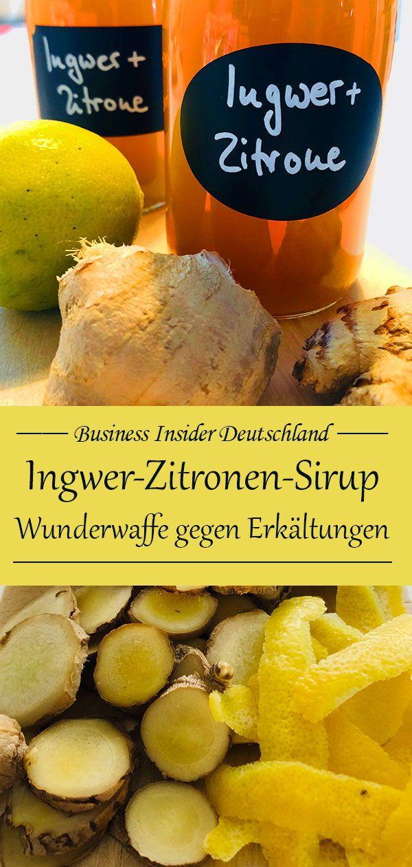Ingwer-Zitronen-Sirup — natürliche Wunderwaffe gegen Erkältungen #drinks