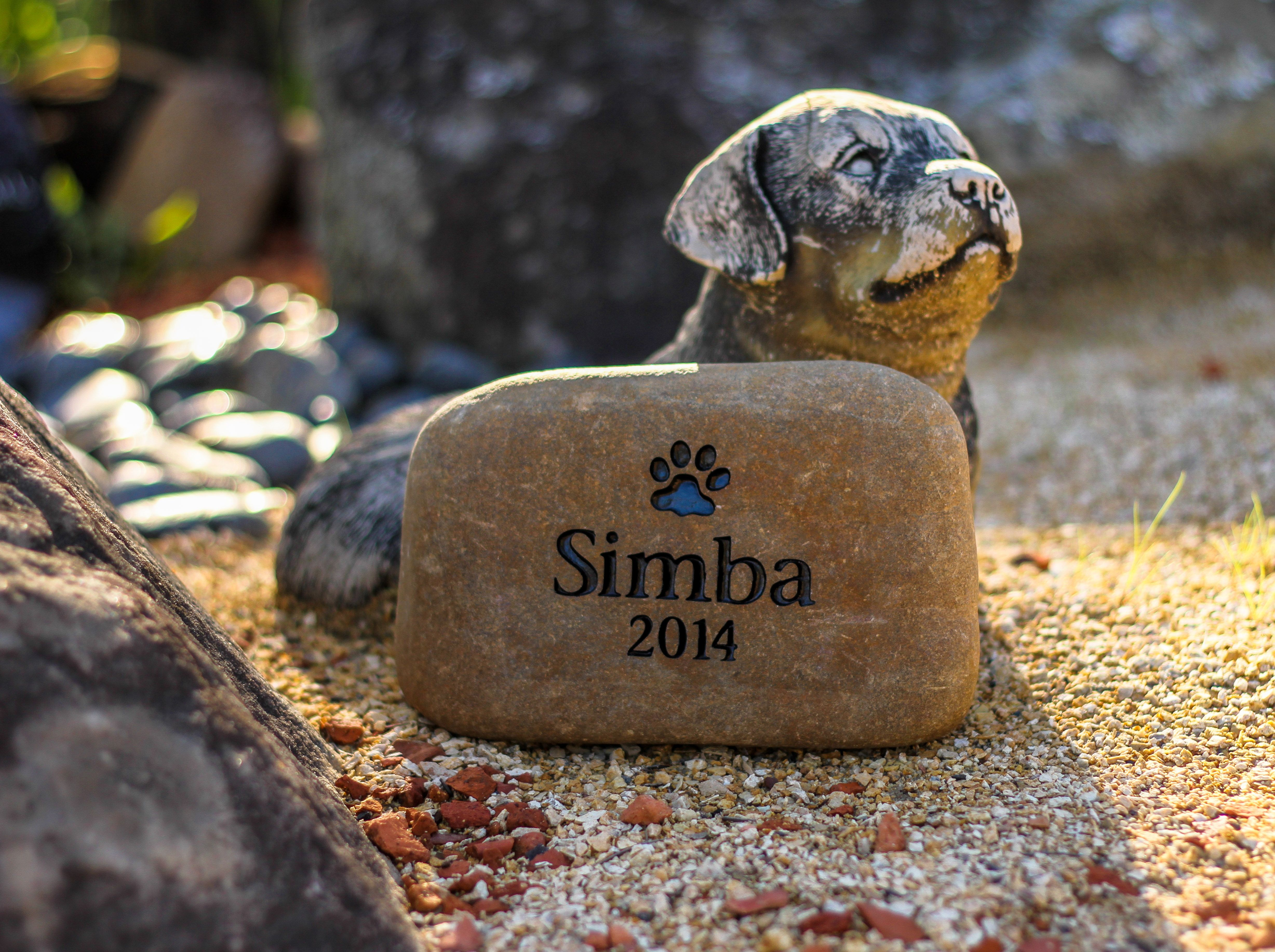 Pet Memorial River Stone Lovingly hand engraved by Talking Stones ...