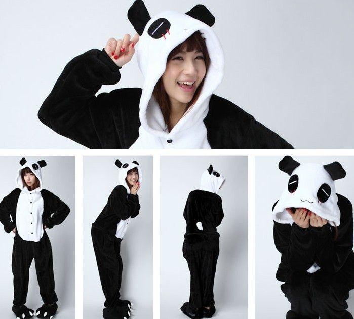 Hot Unisex Adult Pajamas Kigurumi Cosplay Costume Animal Sleepwear Panda