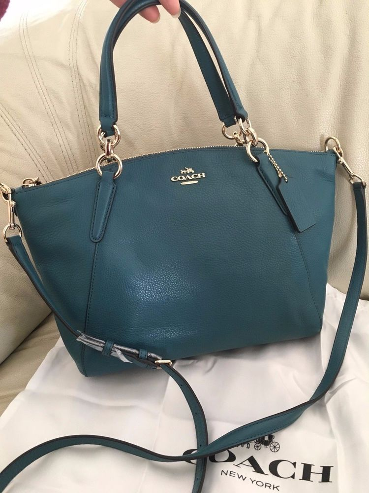 9502f5632c promo code coach cross body bag 54346 84497  switzerland new coach f36675  small kelsey satchel in pebble leather dark teal nwt clothing shoes 8810e