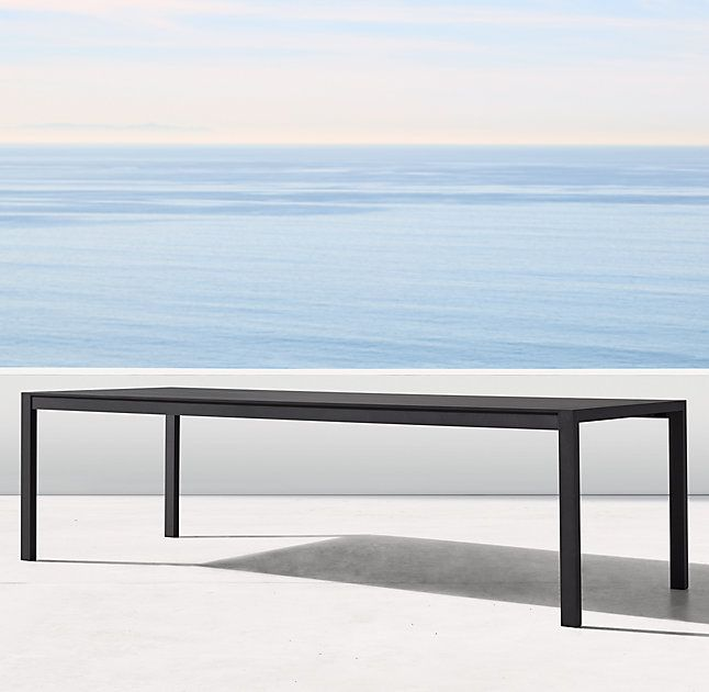 Rh S Aegean Aluminum Dining Table Influenced By The Low Linear