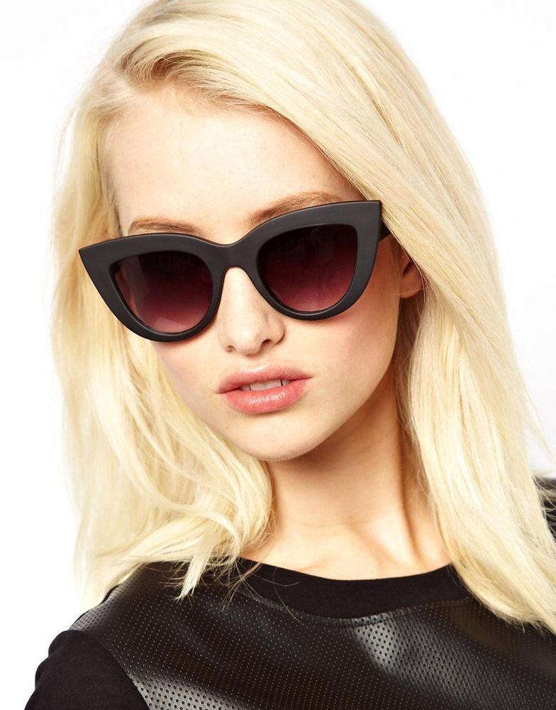 0454e69c5d    QUAY AUTHENTIC Matte Black KITTI Sunglasses Black lenses  QUAY  Kitti