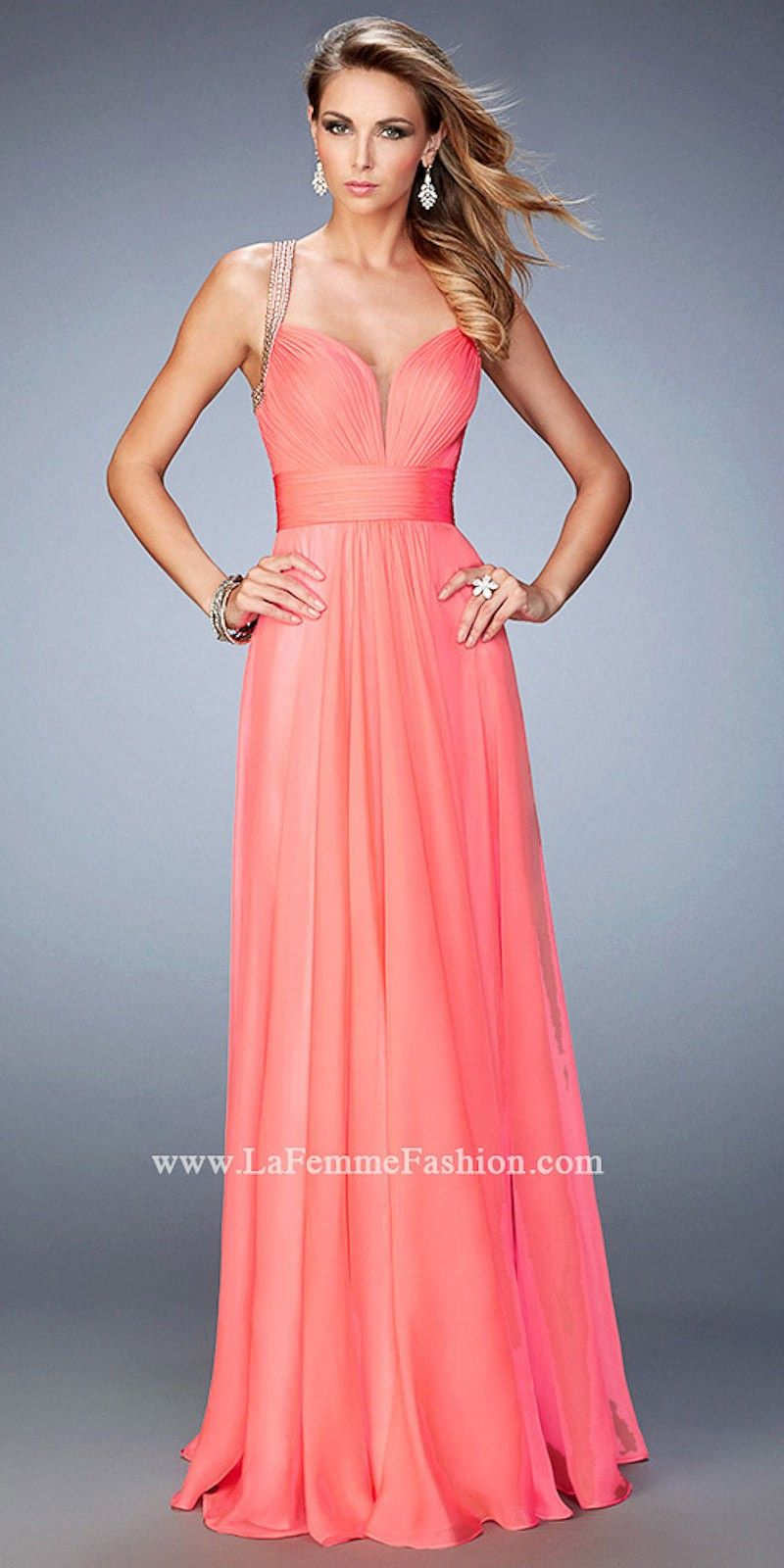 Iridescent Sweetheart Chiffon Prom Dress by La Femme | poli | Pinterest