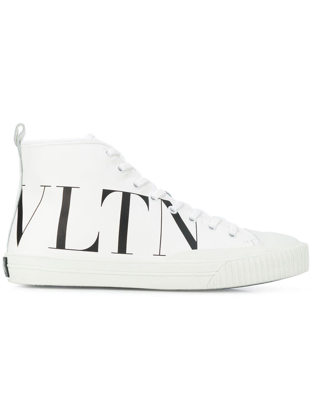 2947ce7a807 Valentino Valentino Garavani VLTN hi-top sneakers - White in 2019 ...