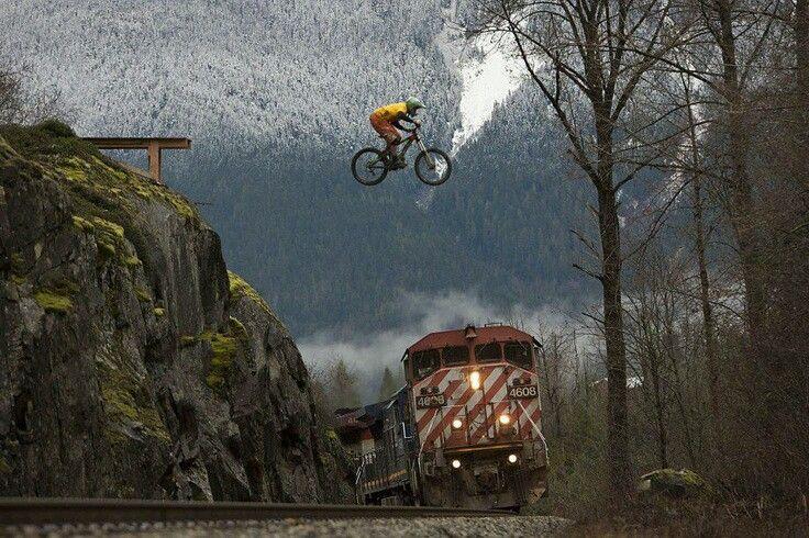 Sweet Jump Mountainbike Mtb Mountain Biking Train Jump