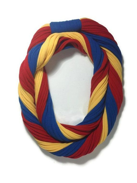 Items similar to Kansas Jayhawks Loopy Infinity Scarf  Upcycled from Recycle Tshirts  Red Blue Yellow Football Jersey Necklace on Etsy#NaturalBeauty #NaturalLook #NaturalHair #GreenBeauty #NaturalBeautyBlogger #NaturalBeautyBrands #NaturalHairDaily #NaturalSkincare #NaturalBeautyTips #DailyLooks #EverydayMakeup #NaturalProducts #NaturalMakeup #FreshFaced #SimpleMakeup