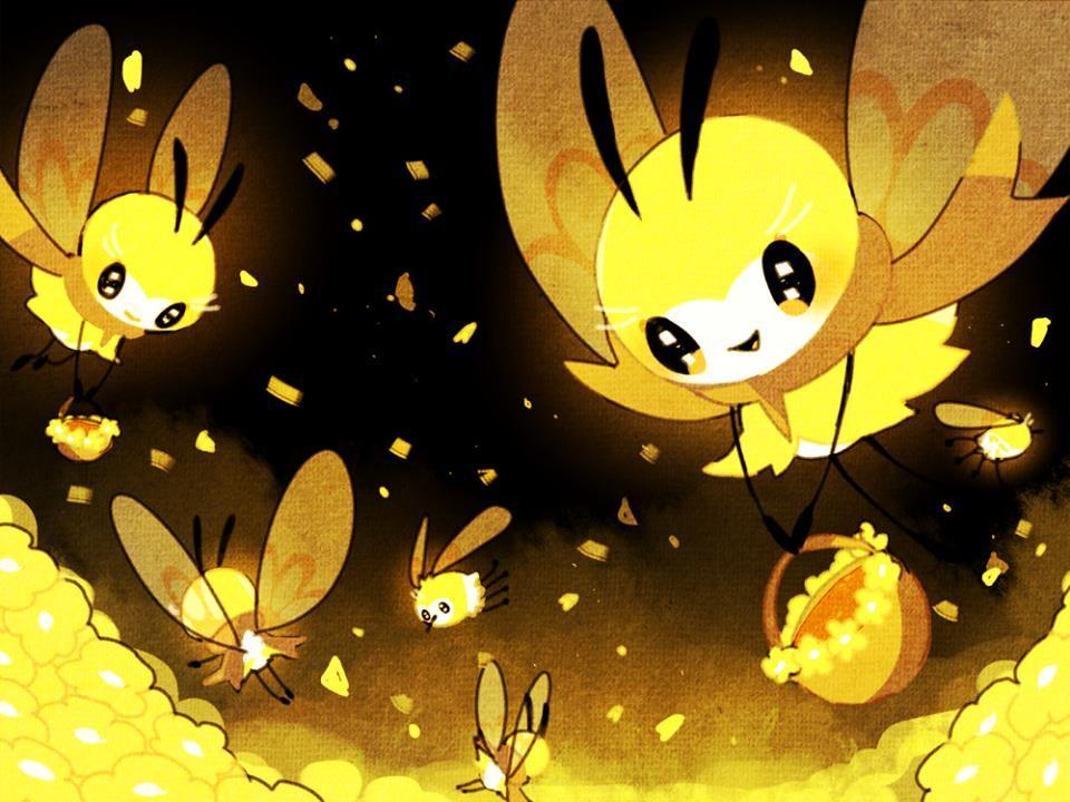 Ribombee Y Cutiefly Wild Pokemon Cute Pokemon Pokemon Fan Art