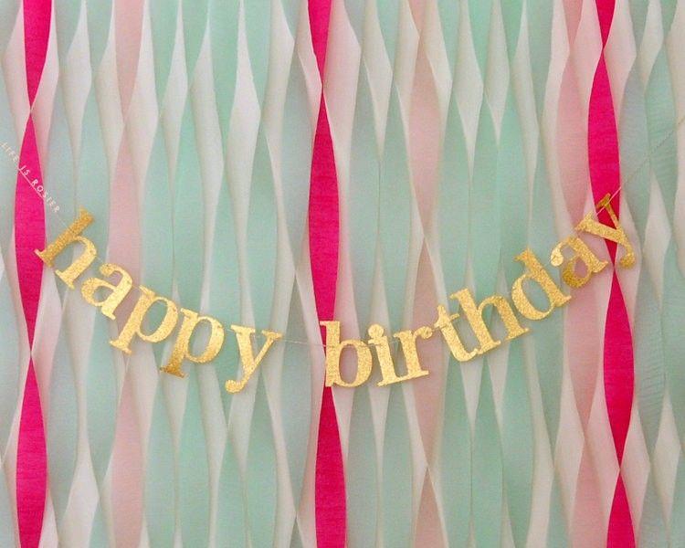 Diy Happy Birthday Banner Gold glitter happy birthday | bday ...