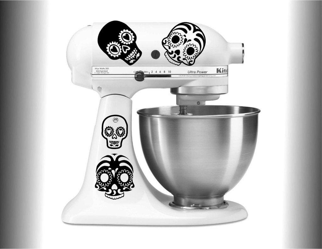 Candy Skull Decal Set Kitchen Aid Mixer Kitchenaid