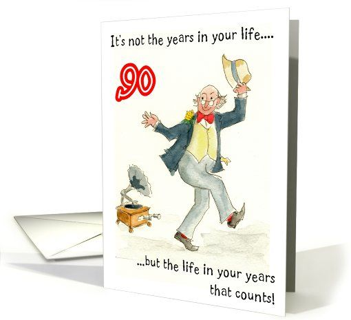 Lighthearted Birthday Card For A 90 Yr Old With Abraham Lincoln