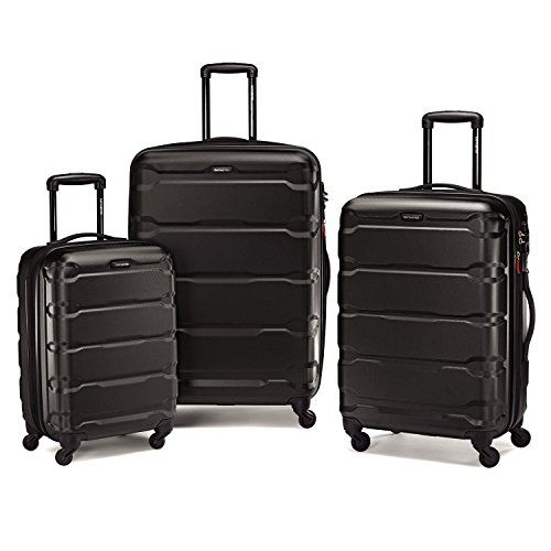 Luggage Sets Collections | Samsonite Omni PC Hardside Spinner SET OF 3 20inch  24inch  28inch Black ** Read more reviews of the product by visiting the link on the image. Note:It is Affiliate Link to Amazon.