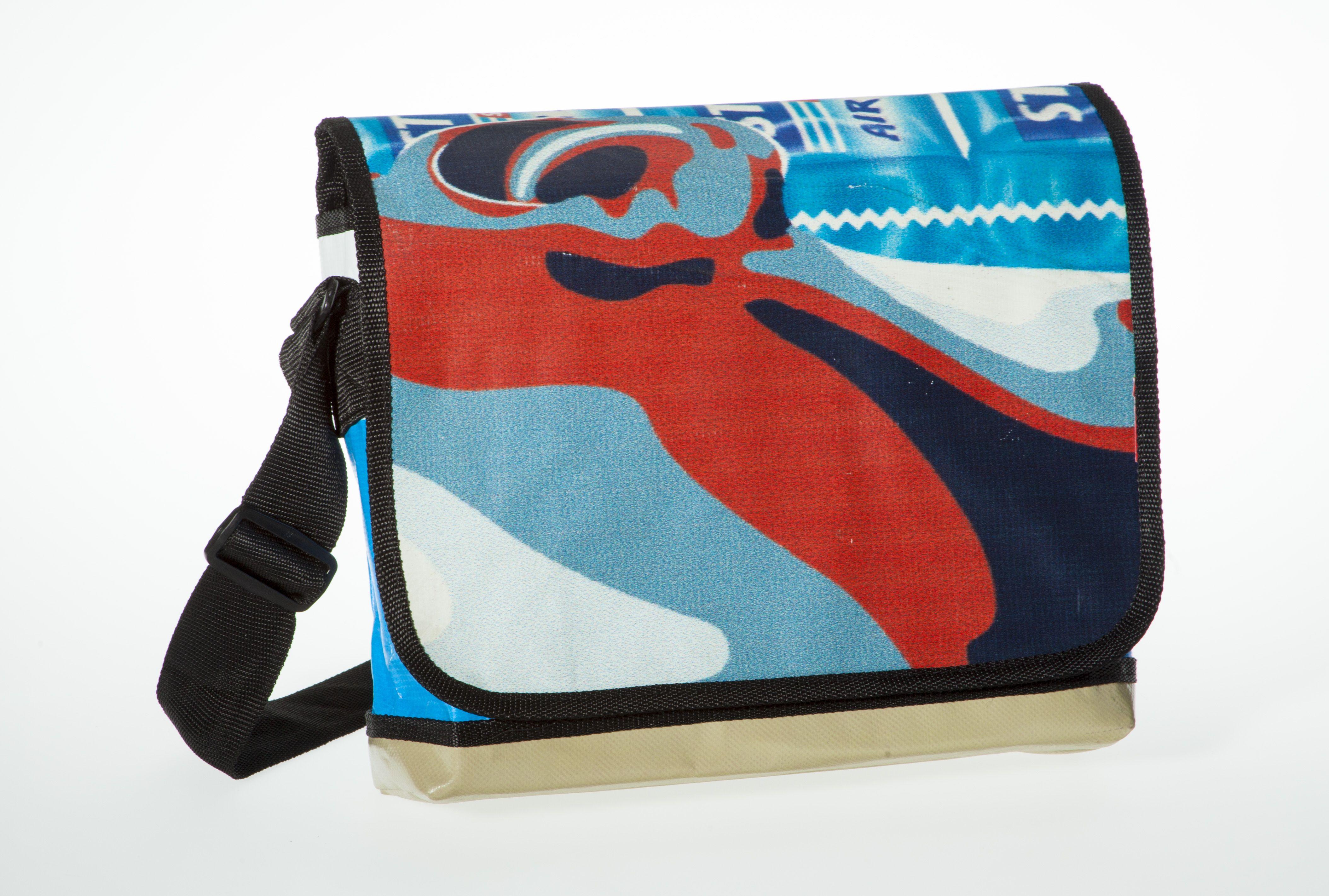 Messenger Bagy: Blue, Red & White #messengerbag