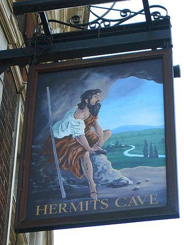 The Hermits Cave - Pub Sign  28 Church Street, London, SE5   Luke Agbaimoni www.lukeagbaimoni.com