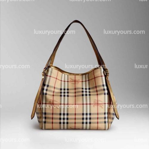 ad57d6f45df2 Burberry Small Haymarket Check Colour Tote Bag Gold