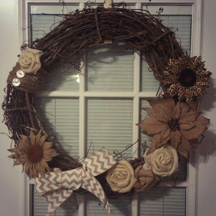 Countryhome Interior Design: Burlap Wreath Idea #wreath #decor # Countryhome #diy