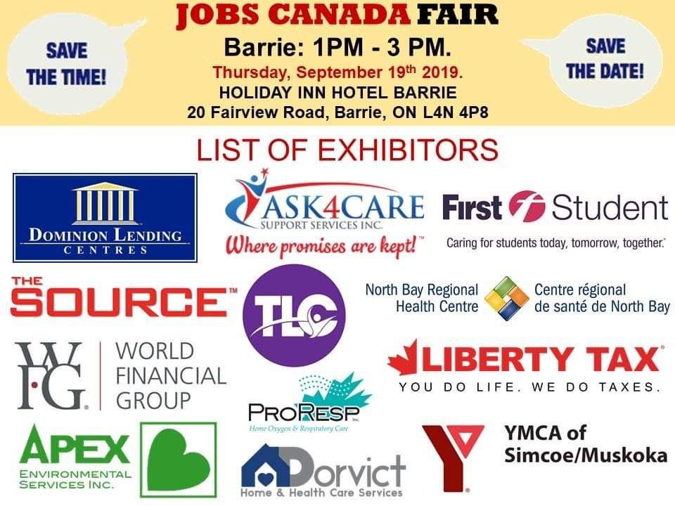 Jobs Canada Fair Ask4care Jobs Canada Fair Ask4care Barrie