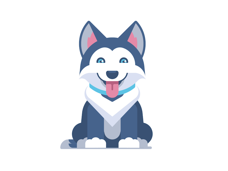 Sorry You Ve Been Rate Limited Dog Logo Design Character Design Inspiration Husky Drawing