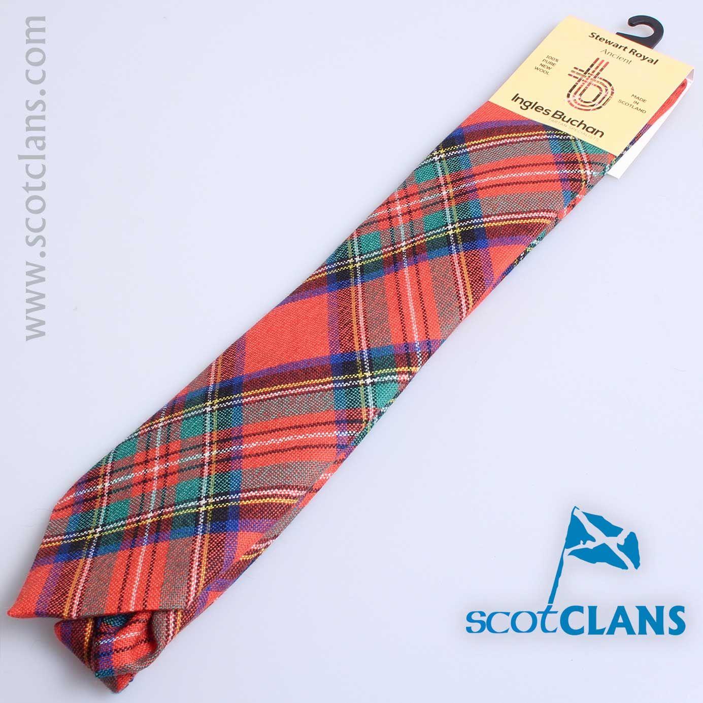 Mens Tie All Wool Made in Scotland Logan and MacLennan Ancient Tartan