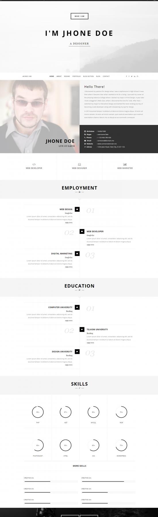 pin by ultraupdates on wordpress resume  u0026 portfolio themes