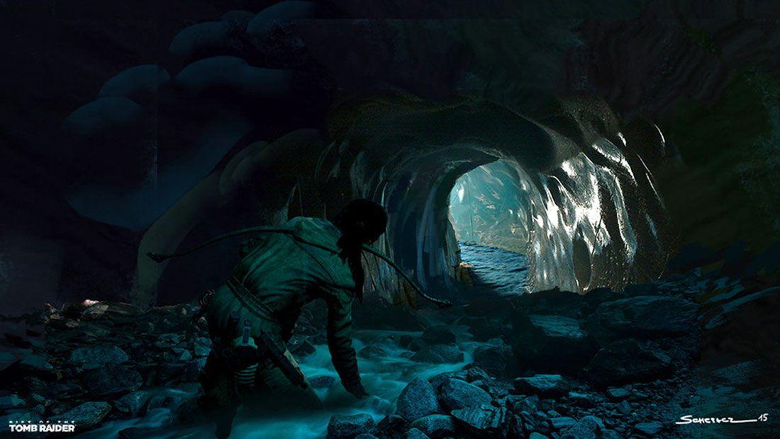 Rise of the Tomb Raider - Yohann Schepacz - Ice Ship Tomb Cave