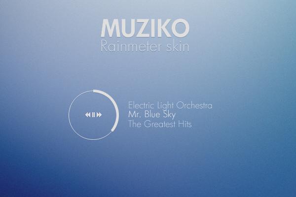 Muziko for Rainmeter by NomNuggetNom.deviantart.com on @deviantART