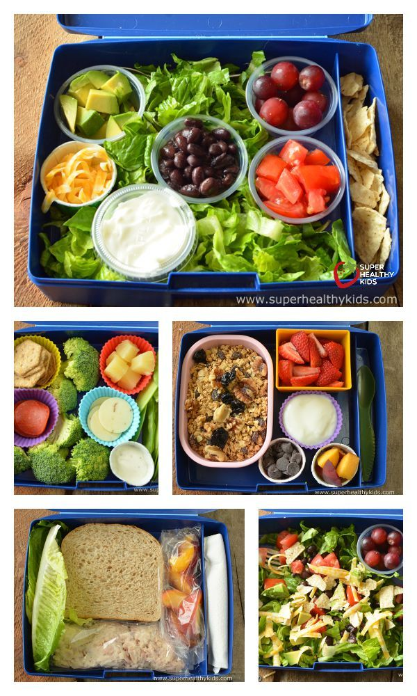 """Today's Lunch: Assembly Required - Thinking """"outside the box"""" with these DIY lunches! http://www.superhealthykids.com/todays-lunch-assembly-required/"""