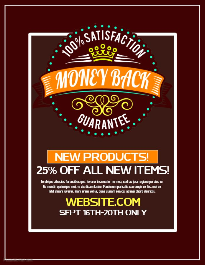 Sale/Discount Flyer. Click The Image To Customize On Postermywall