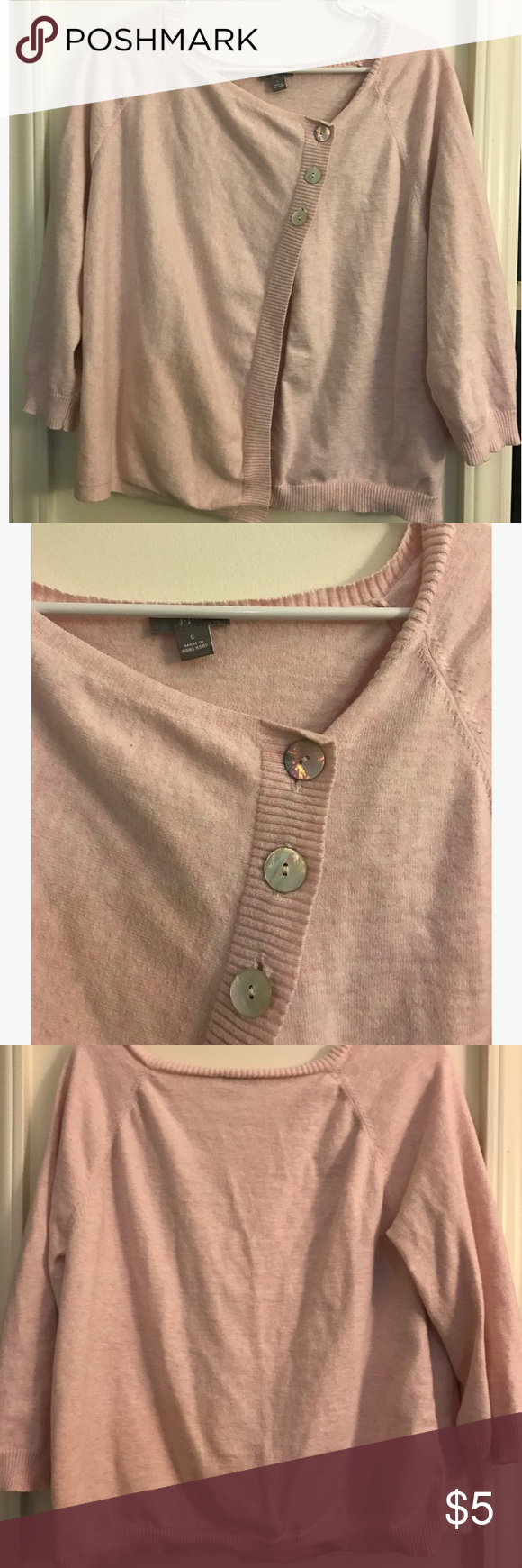 Pink Sweater Gently worn, good condition. The tag is about to fall off, but the brand is J Jill. Offers welcome on bundles! Sweaters