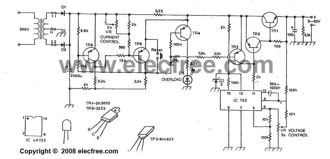 how to build high current power supply circuit diagram