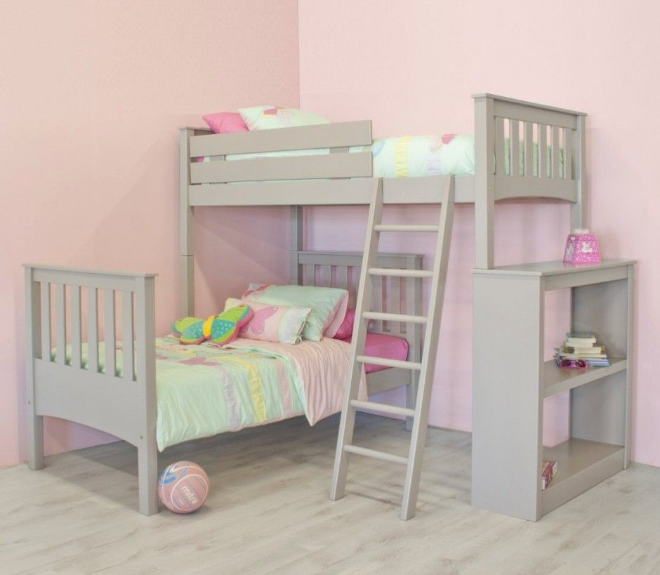 Kids Room Simplistic L Shaped Bunk Bed Designing Ideas And Plywood Flooring Feats Colourful Bedding Sets Experim Bunk Bed Designs L Shaped Bunk Beds Bunk Beds
