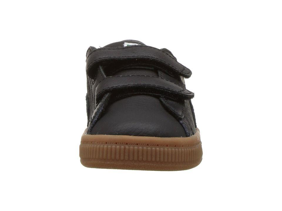 bd73e37313ccd Puma Kids Basket Classic Gum Deluxe (Toddler) Kids Shoes Puma Black Puma  Black