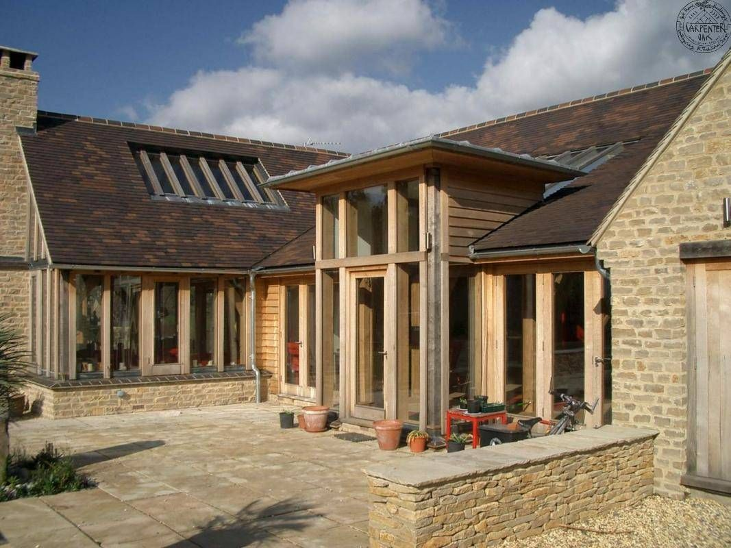 Flat roof porch green oak house pinterest flat roof for Enclosed front porch house extension