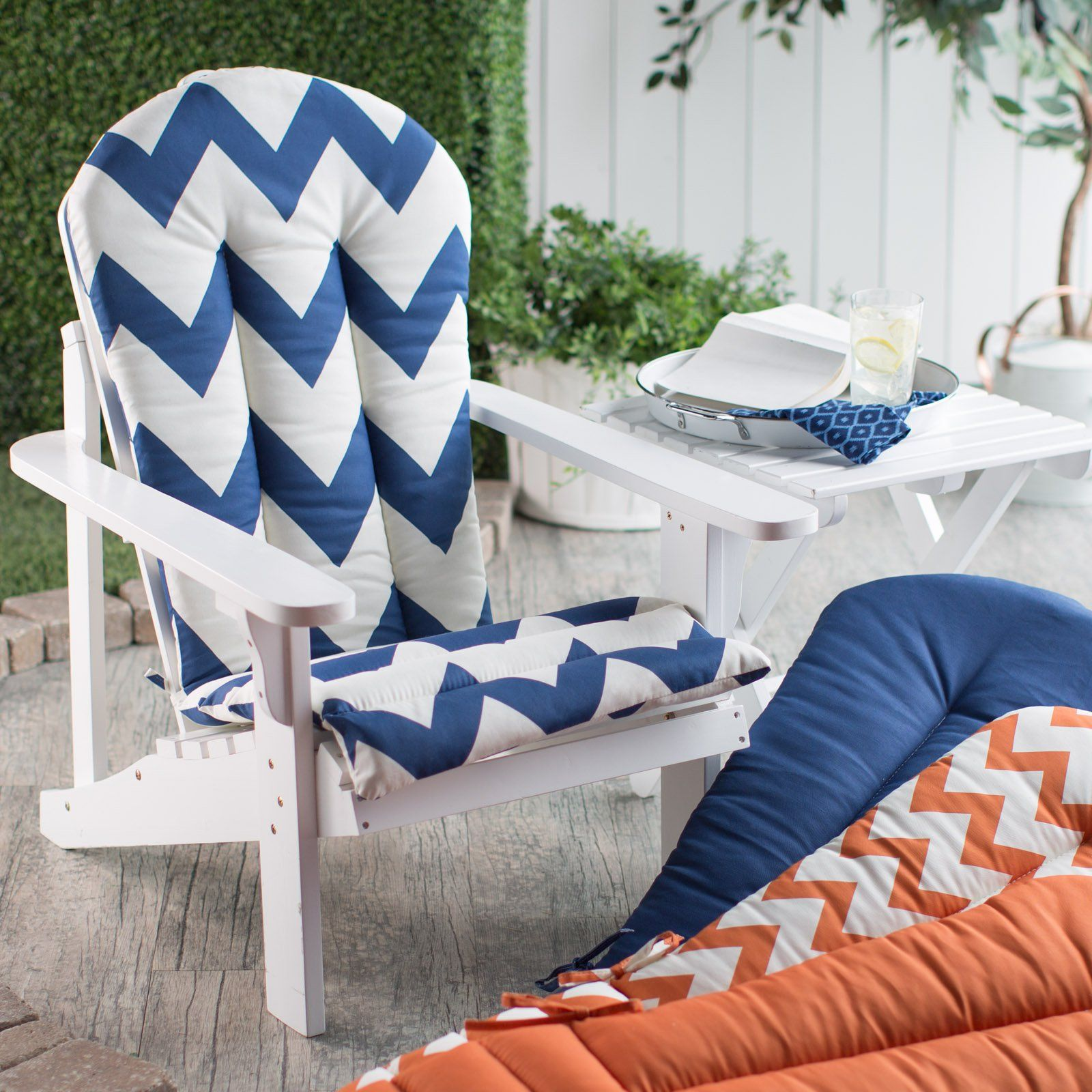 Attractive Coral Coast Valencia Adirondack Chair Cushion   $51.99 @hayneedle