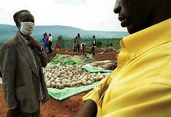 Skulls from mass graves of 1994 Rwanda genocide, former Rwanda official will stand trial before his countrymen,