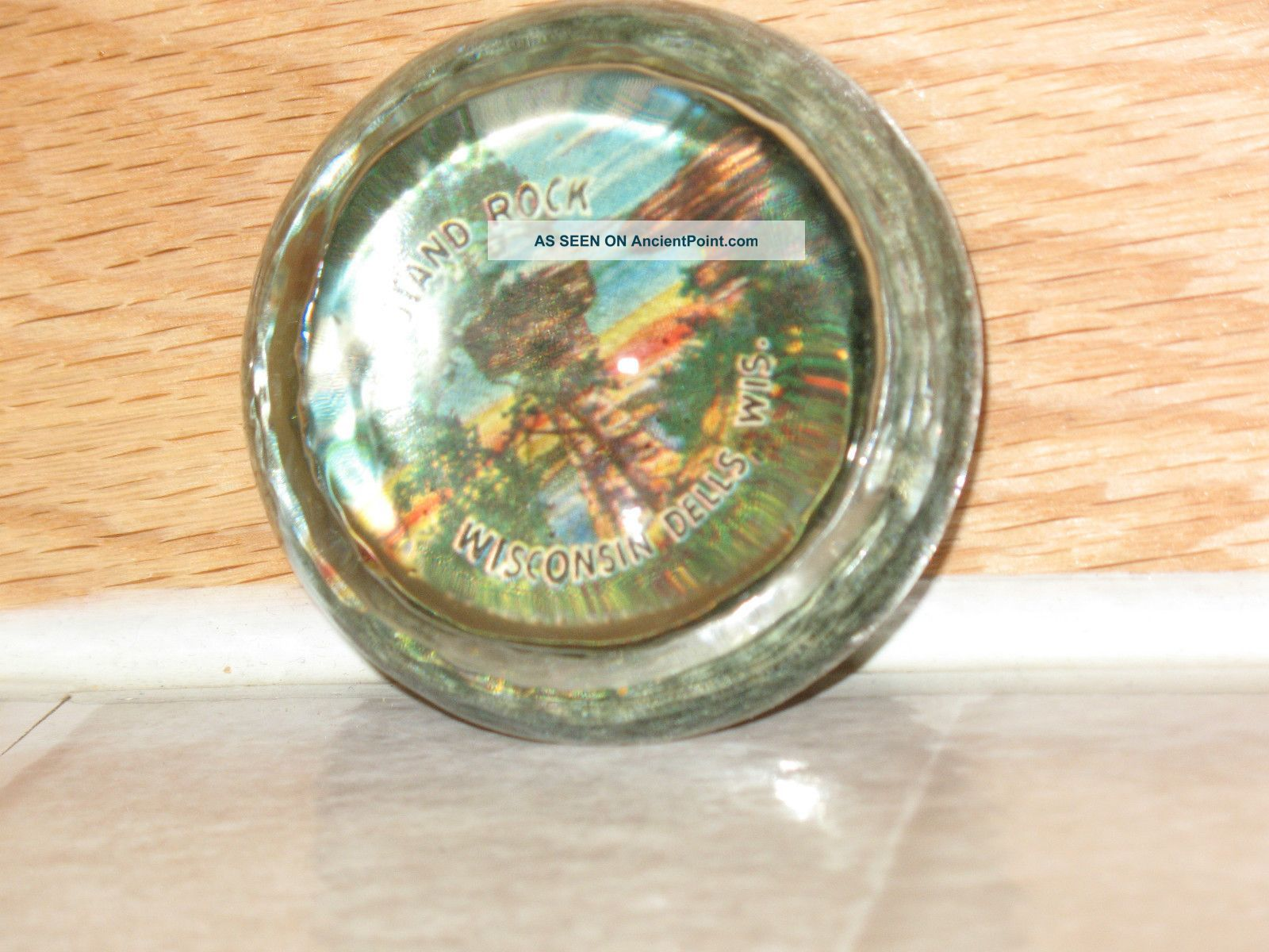 Stand Rock Glass Paper Weight, Wisconsin Dells, Wis. , Antique ...
