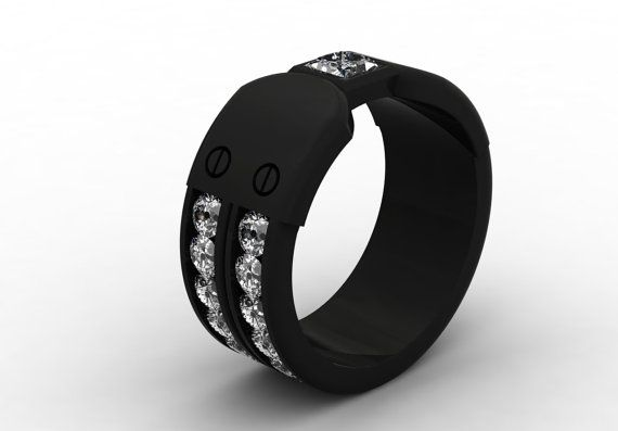 14k Black Gold New Fashion Luxurious Modern Band for Men by VOLISA, $4350.00
