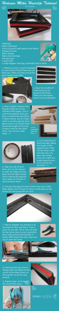hatsune miku hairclip tutorial