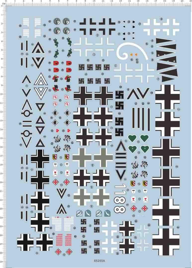 Black Different Scale Arial FONTS 12-2 Characters letters Water Slide Decal