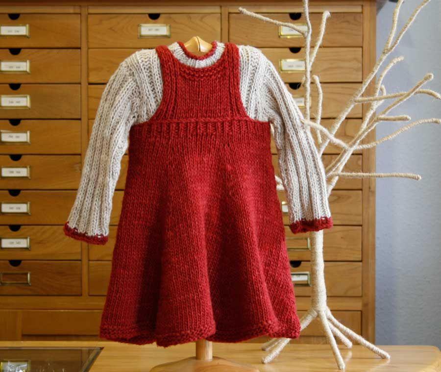 Falda infantil de punto en patrones gratis de Inke | AGUJAS ...
