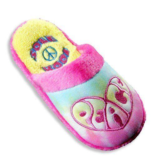 Ladies Tie Dye Peace Slipper SOLE KOOL