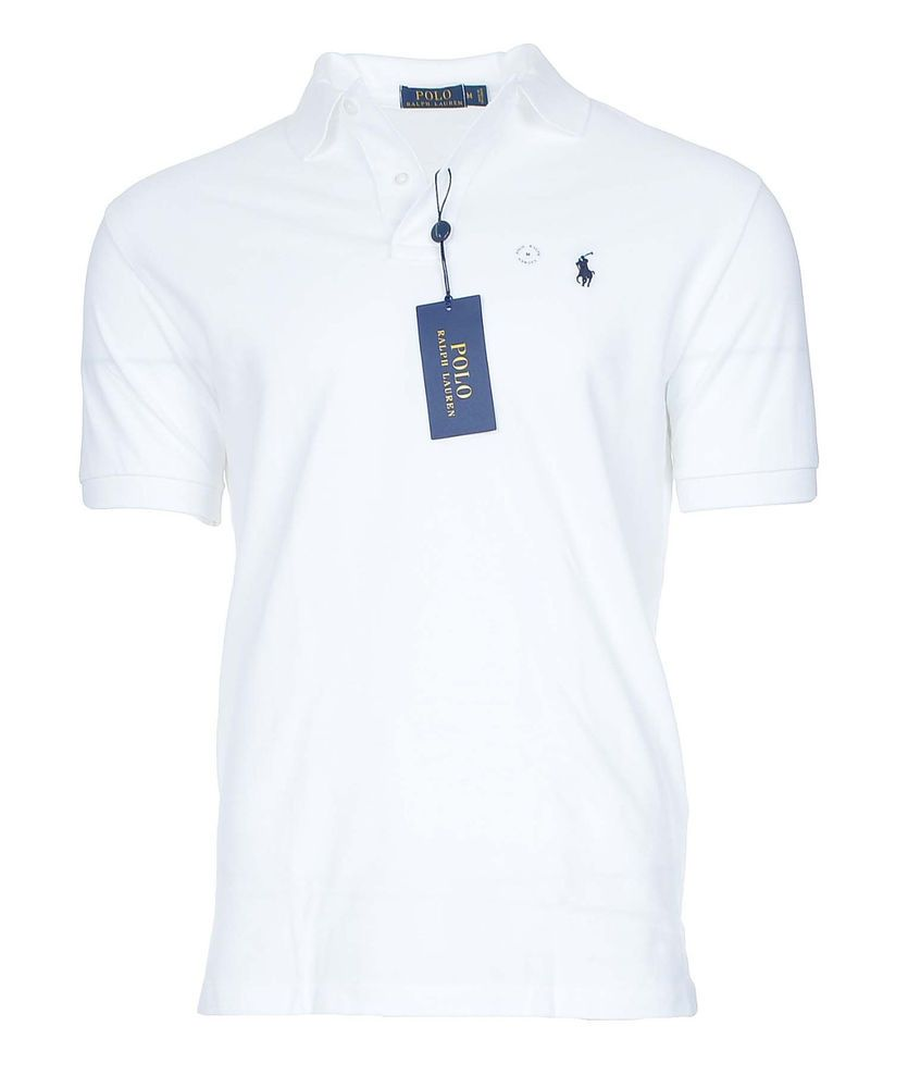 Polo Ralph Lauren Mens Classic Fit Polo Shirt Size M in White NWT  #PoloRalphLauren #