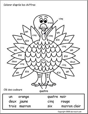 French Colorier D Apres Les Chiffres Spanish Lessons For Kids Spanish Kids Spanish Worksheets