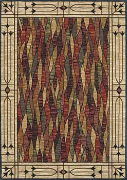 Mission Style Rug Or Arts And Crafts Rug Beautiful Stained Glass