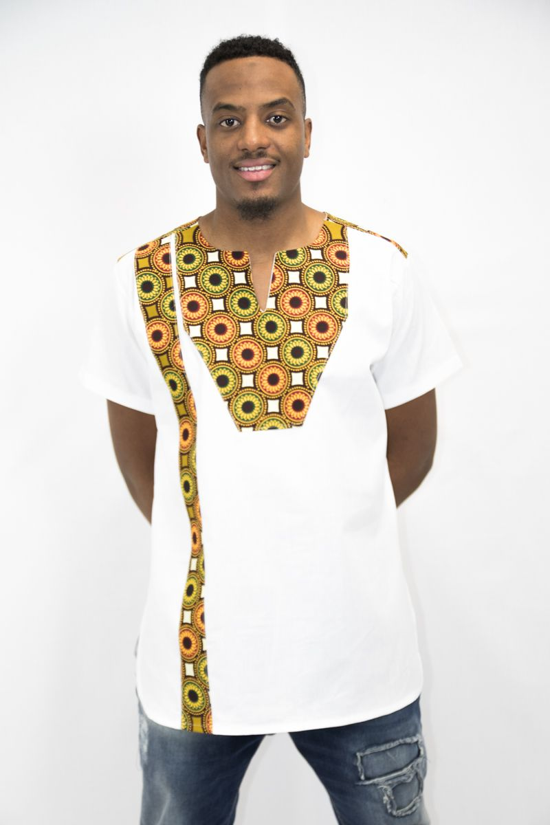 Image result for modele pagne africain homme   African print shirt, African shirts for men ...