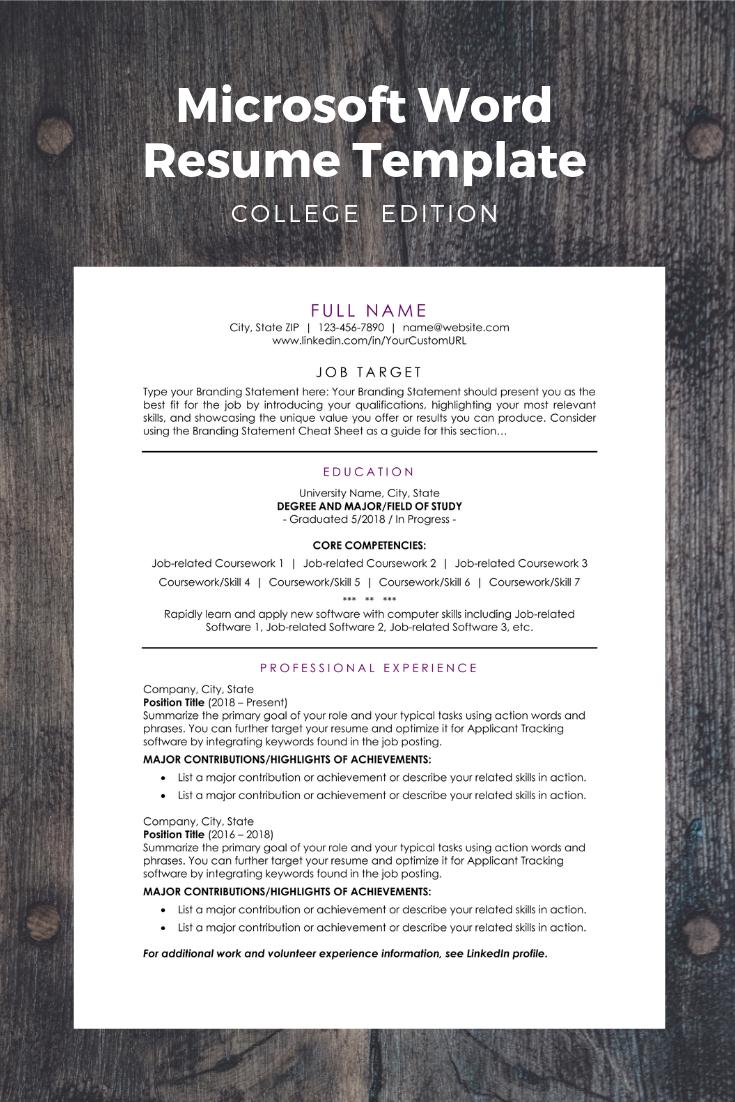 Microsoft Word Document proven to help college graduates
