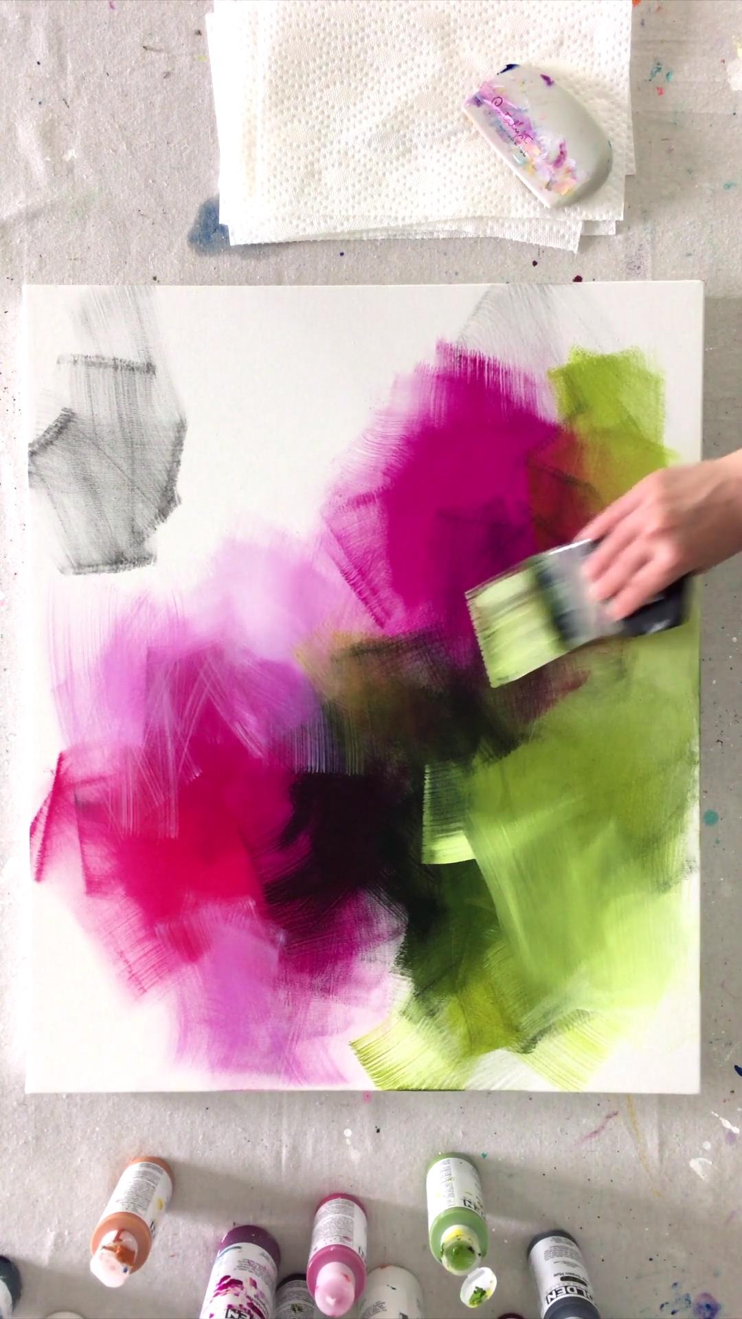 Photo of Brushwork with Acrylics