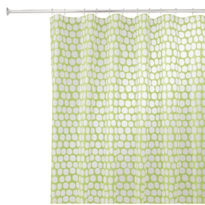Interdesign Honeycomb Shower Curtain Lime 72x72 With Images