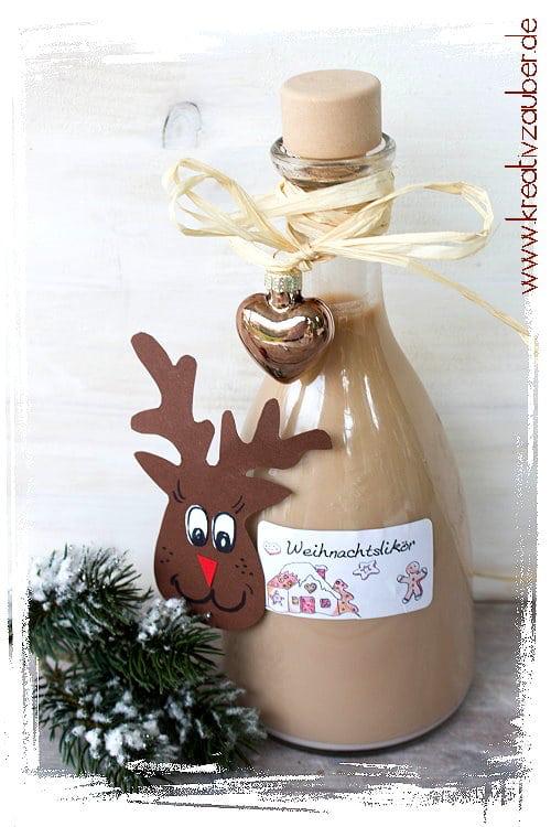 Last Minute Geschenk Idee ★ Weihnachtslikör ★ Kreativzauber®