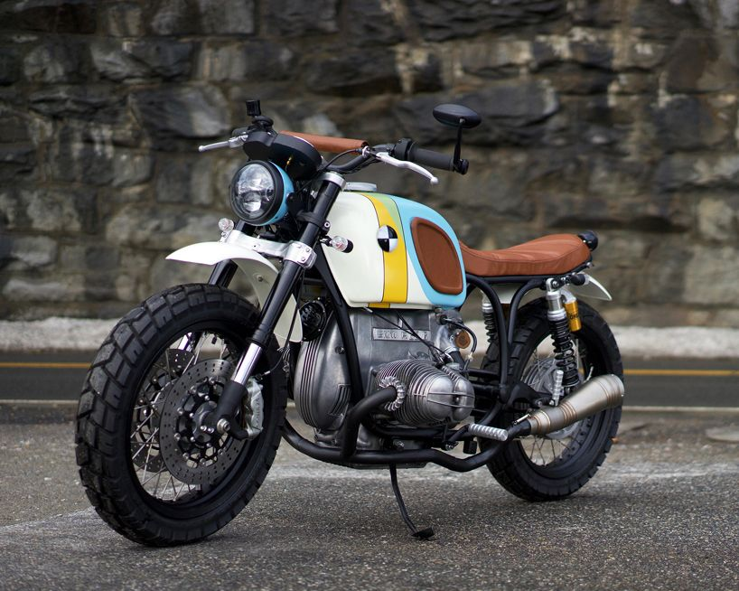 The Bmw R60 6 Custom Motorcycle By Vintage Steele Is A Rainbow
